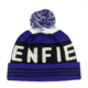 Customized Men's Blue Pom-Pom Beanies Cheap Winter Knit Hats