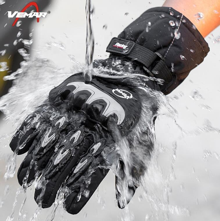 Motorcycle warm Gloves Waterproof Touch Screen Winter Riding Bikers Motorbike Racing Gloves