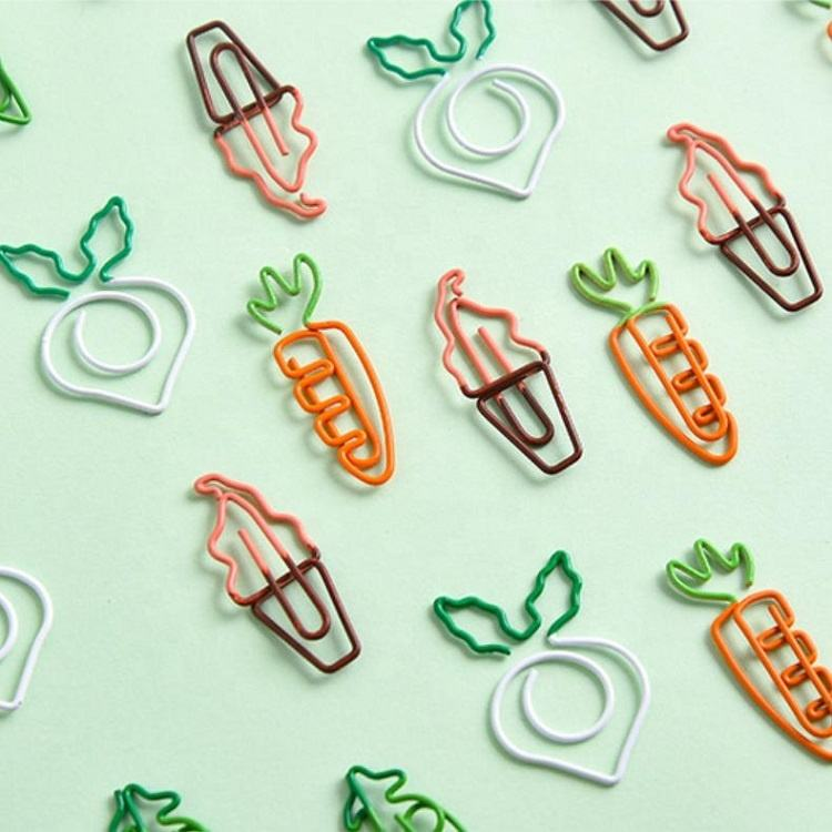 Cheap Factory Price Custom Paper Clip Fun Paper Clips Carrot PaperClip