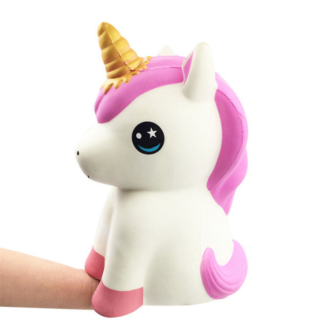 Hot Selling Giant Unicorn Horse Animal Shape Squishies Super Cool Supplier Squishy Rare Slow Rising Scented Anti Stress