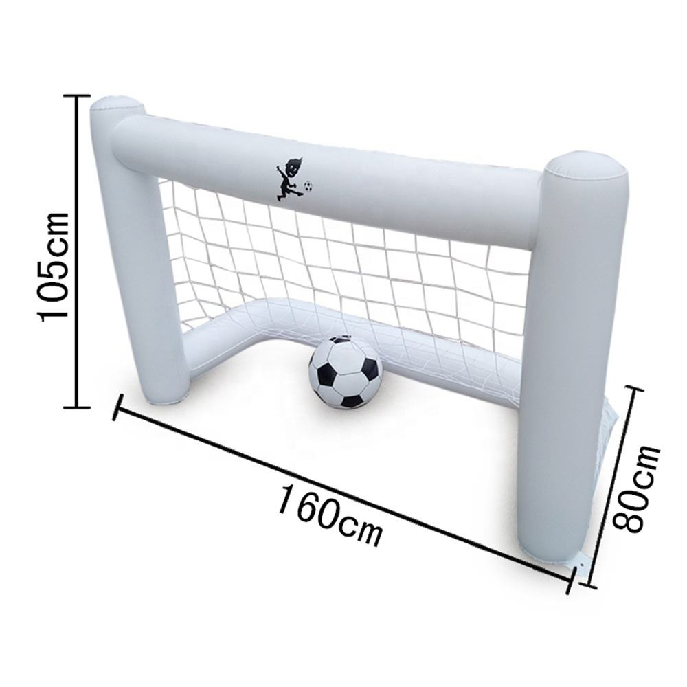 Inflatable Soccer Goal PVC Football Net Parents Children Playing Ball Games