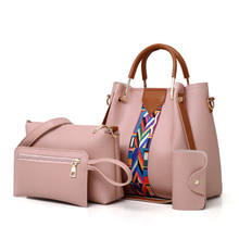 Fashion Cheap Price Lady Handbag Women Bag sets PU Handbags 4 Pcs in 1 Set
