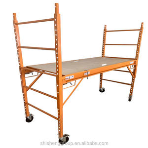 telescopic andamio rolling indoor metal portable baker scaffolding with adjustable casters