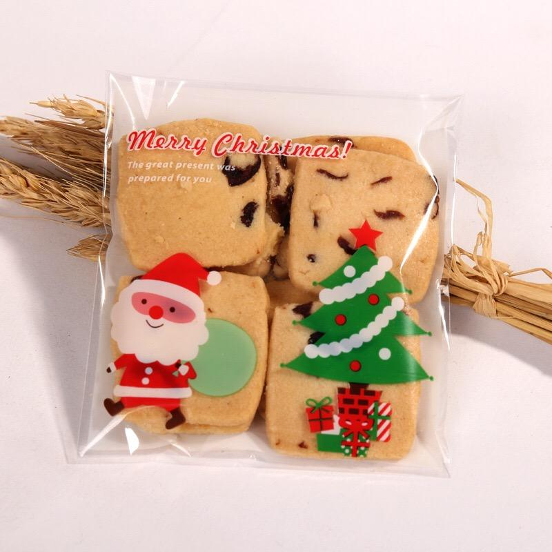 2019 Custom printed Cello bag Self Adhesive Bakery Candy Biscuit OPP Plastic Packaging Bags for Christmas Party Dessert