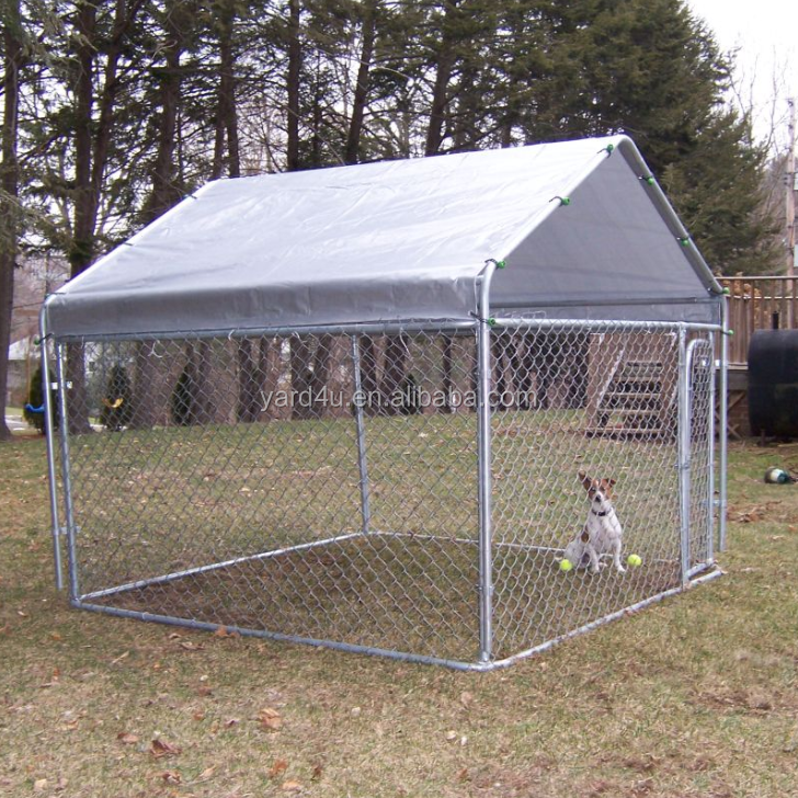 Wholesale easily assembled outdoor metal pet enclosure, dog run, chain link dog cage