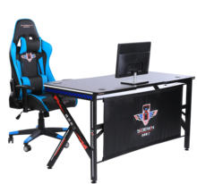 HJ8002-MDF wholesale gaming PC desk computer racing table RGB light OEM gaming table for gamer