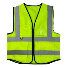 Zipper Pockets Yellow High Visibility Vest