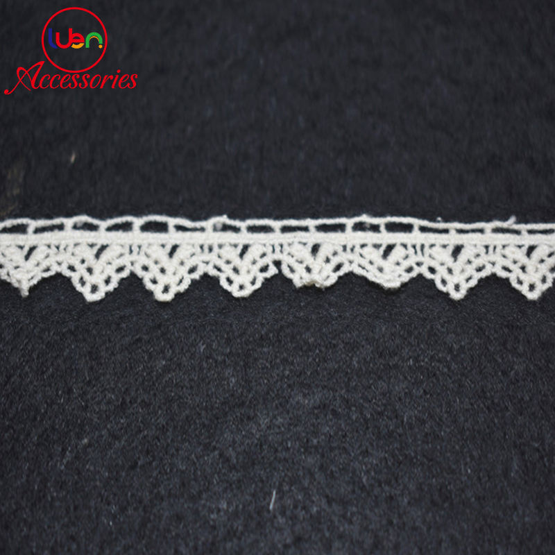 2 Yard White Water Soluble Vintage Crochet Polyester Lace Trim Ribbon Craft 20mm