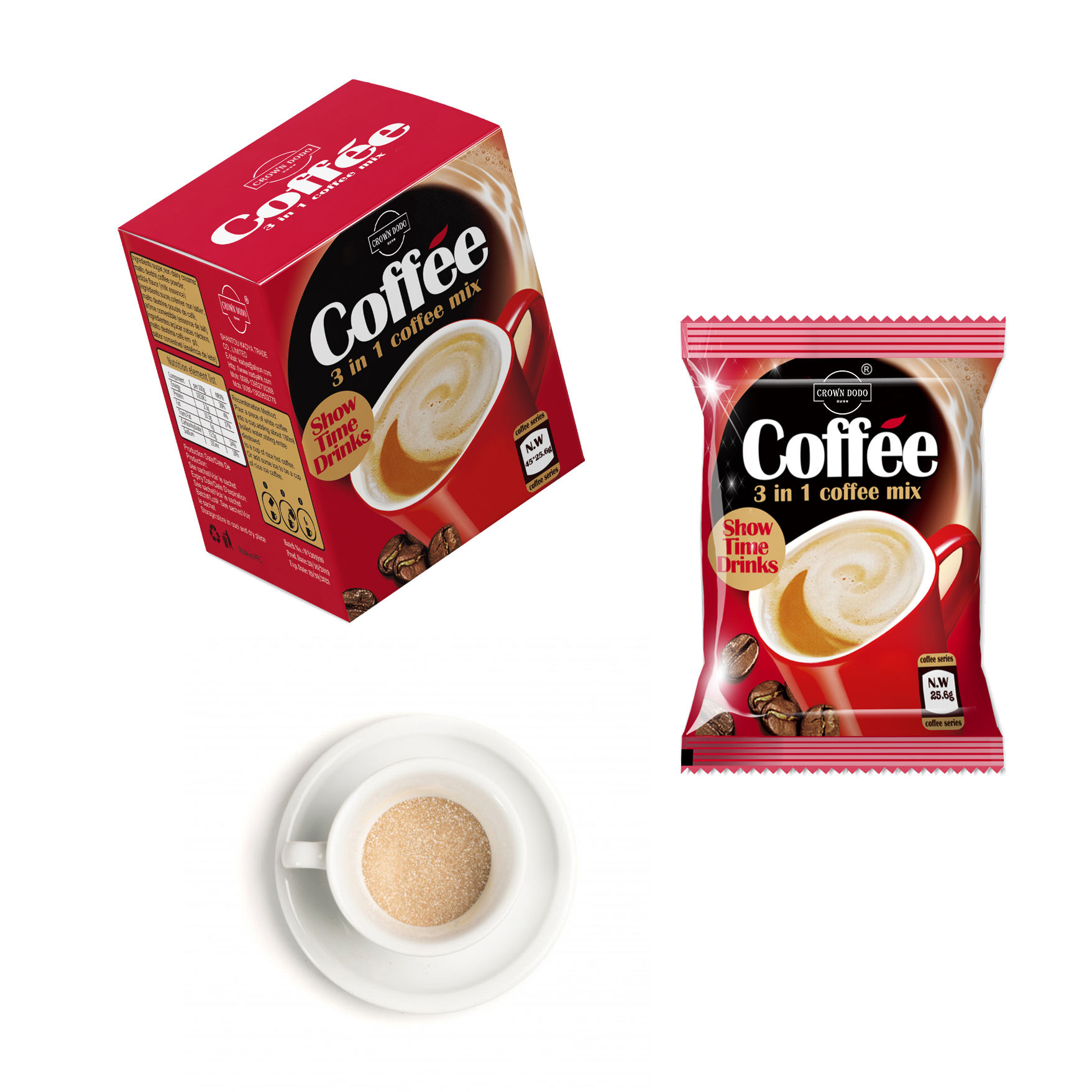Instant 3in1 coffee powder in box health additive free dry powder for sale refreshing instant drink sachets exclusive production