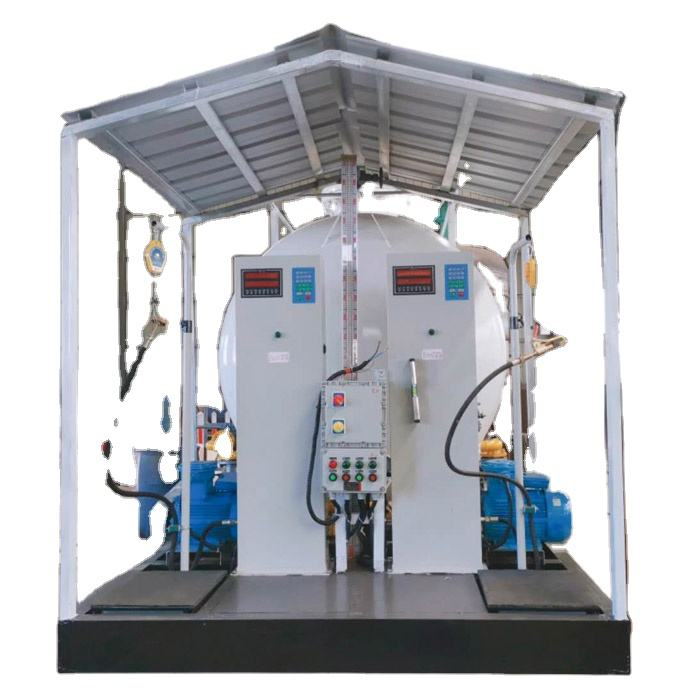 25000 litres LPG gas skid refill stations with full set valves and LPG gas tank