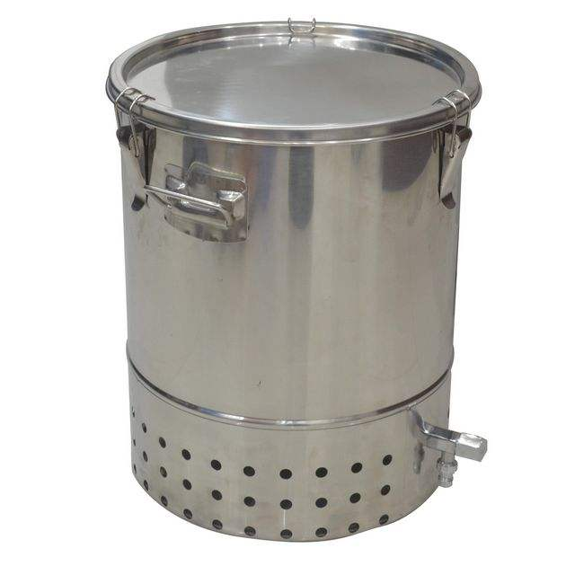 Bokashi Compost Double Deluxe Stainless Steel 30L