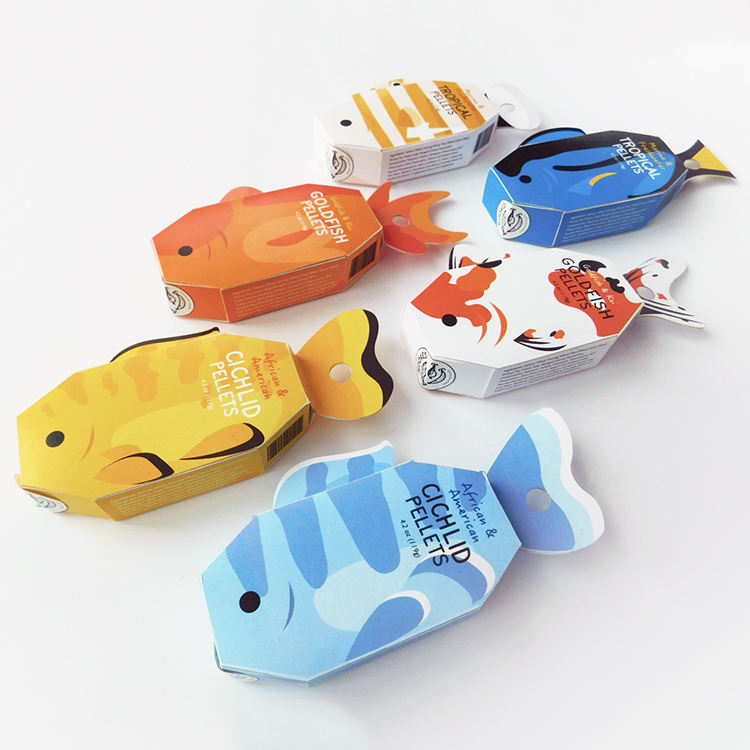 Fish-Shaped Snack Pet Food Packaging Chinese Supplier Custom Food Packaging Box