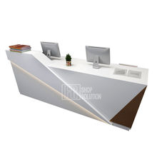Modern Office Furniture Wooden Reception Counter Luxury Design Office Reception Table