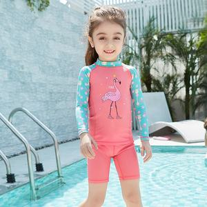 Julysand kids floating swimsuit kids girls swimwear kids rash guards