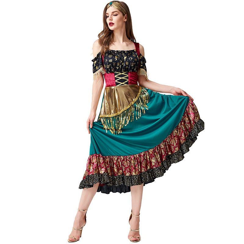 Halloween party show flamenco costume starlight Gypsy party plays gypsy girl