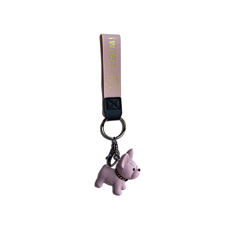 Amazon Hot Selling Metal Craft Gift Acrylic French Bulldog Key Chain