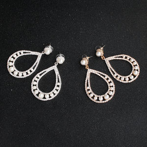 Simple Party Geometric Hoop Stud Bridal Earrings For Women