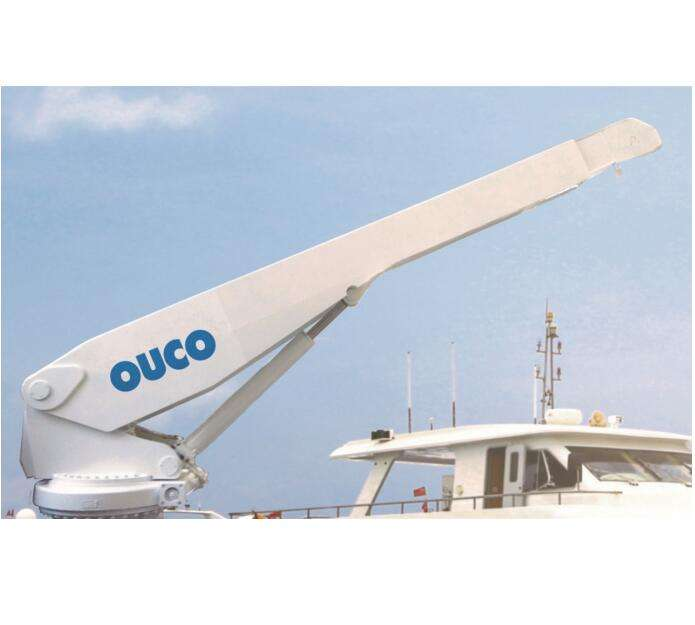 1T4M portable luxury boat davit yacht marine electric deck barge crane marine
