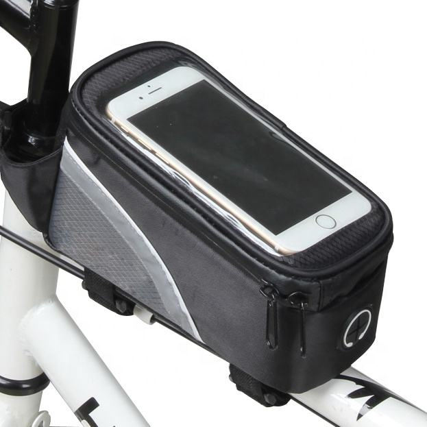 Top selling bicycle accessories travel cycling front top tube waterproof small bag with clear touch screen for mobile phone