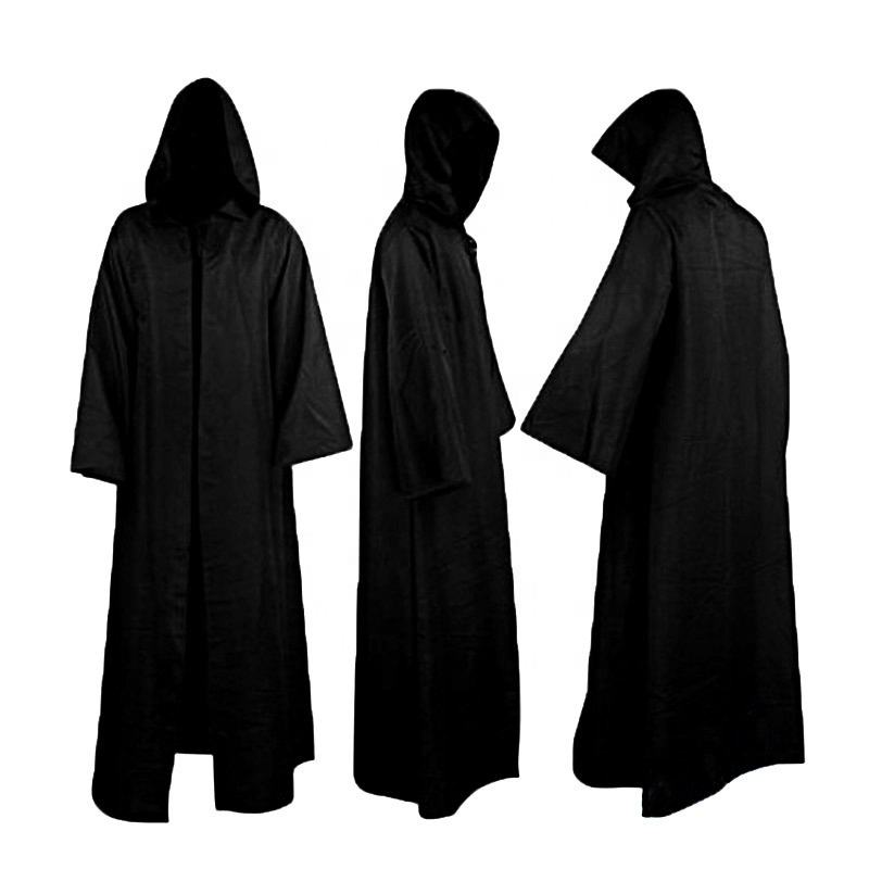 Unisexe Halloween Robe Cape À Capuche Costume Cosplay Moine Costume Adulte jeu de Rôle Décoration Vêtements Noir Marron S-2XL