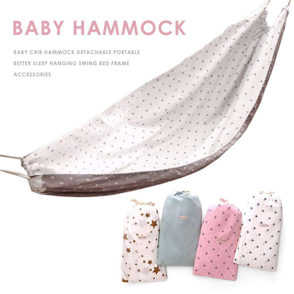 Baby Crib Hammock Sleep Cradle Detachable Portable Sleep Hanging Swing Bed For 3 Months-6 Years Old Baby