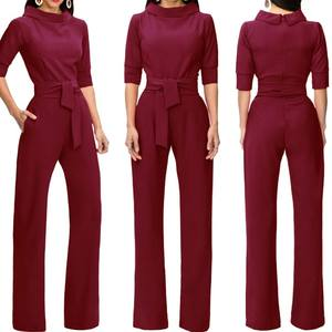 Wholesale Price Latest Design Delicate Women Autumn Jumpsuit Formal Jumpsuit