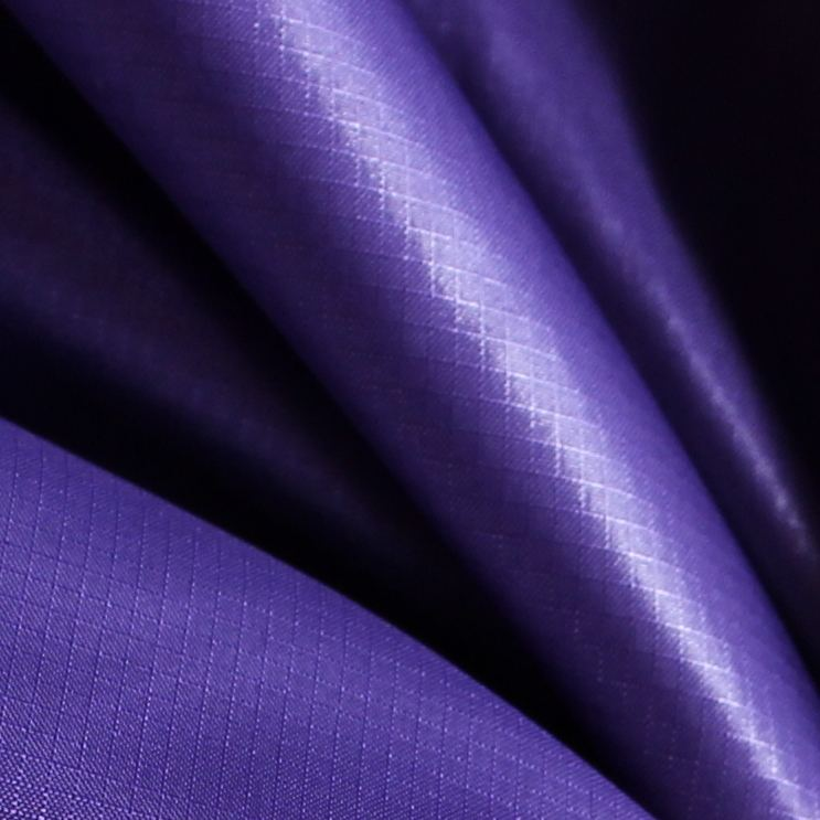 Purple 380T 20D Oil Cired Ripstop Polyester Taffeta for beach umbrella jacket sportswear