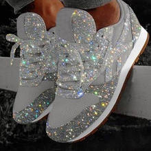 Paillette new running breathable casual shoes female shoes women's fashion sneakers zapatillas mujer