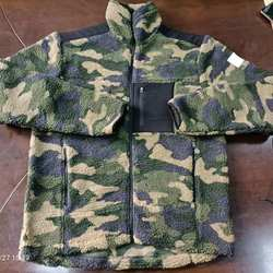 2020 winter/autume long sleeve camouflage men's fleece jacekt zipper sporty  casual coat custom design