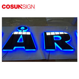 Cosun Acrylic Backlit Business Outdoor Metal Shaped Led 3D Custom Logo Sign