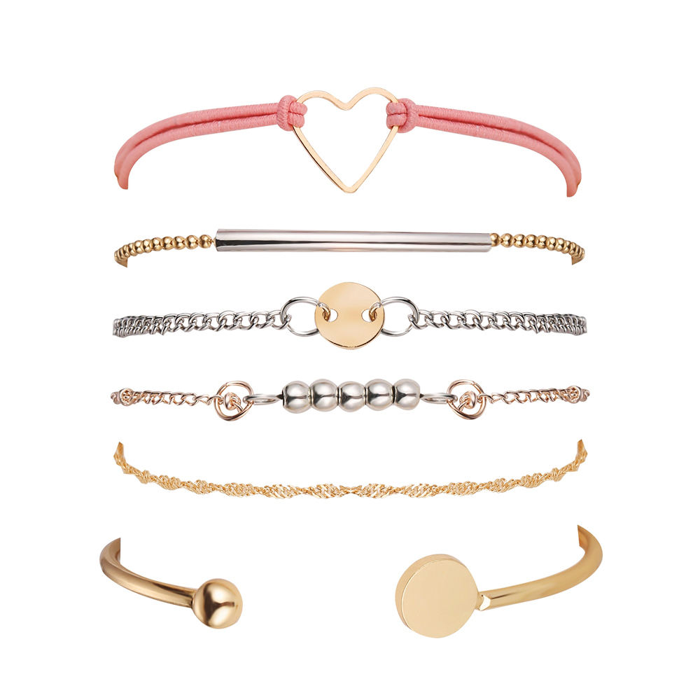 Inspirational Love stackable open cuff bangle braclet set