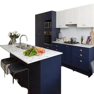 Vermonhouzz Flat Pack Customized Kitchen Design Shaker Lacquer Modern Kitchen Cabinet with Island