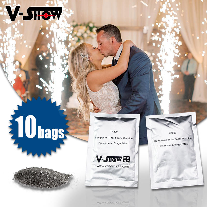 10bags composite ti or Titanium powder special effect for cold spark machine wedding firework machine