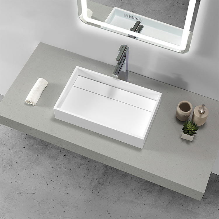 Bathroom Solid Surface UPC Countertop Wash Sink Above Counter Washbasin