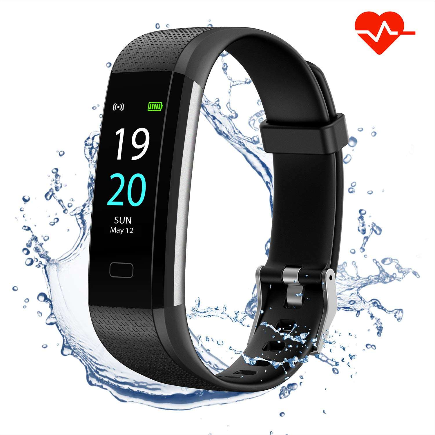 CE RoHS banda inteligente Ip67 Bluetooth rastreador de Fitness con sdk y api