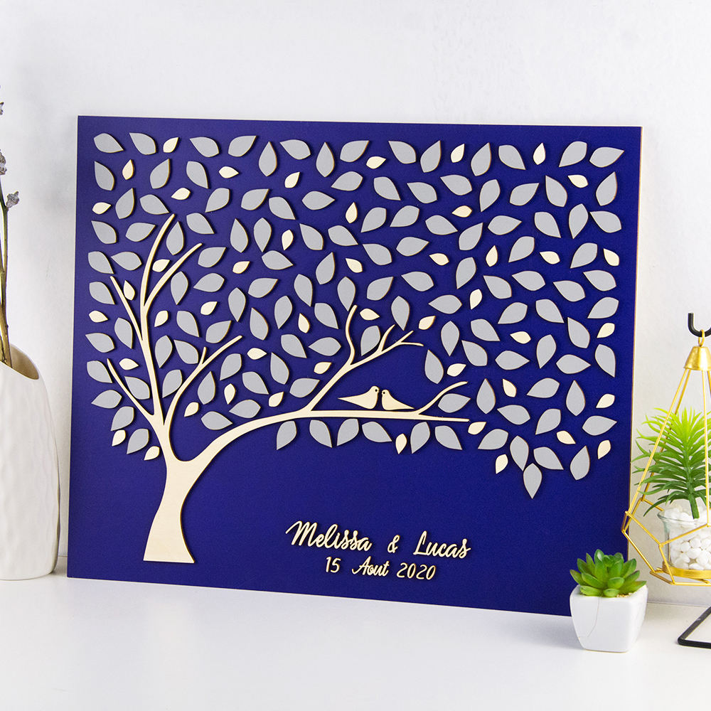 3d wedding guest book alternative wedding tree guestbook alternative Custom welcome sign Wood guest book Peach wedding decor