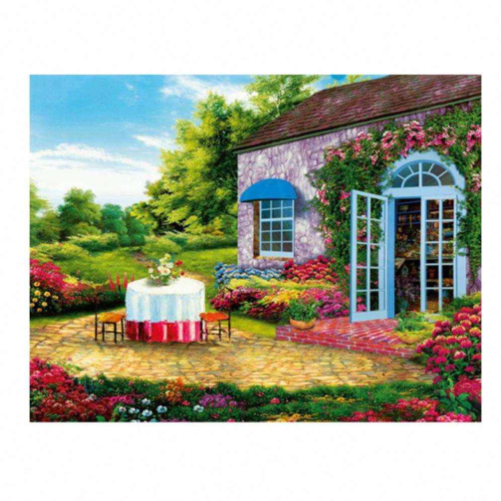 Diamond Painting Landscape Garden 5D Diamond Painting Flower Square Rhinestones Embroidery Cross-Stitch Home Decor