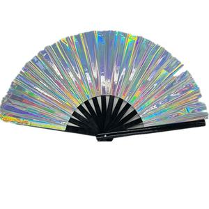 2020 Chinese Custom Gedrukt Grote Opvouwbare Plastic Hand Fans Voor Dance Party