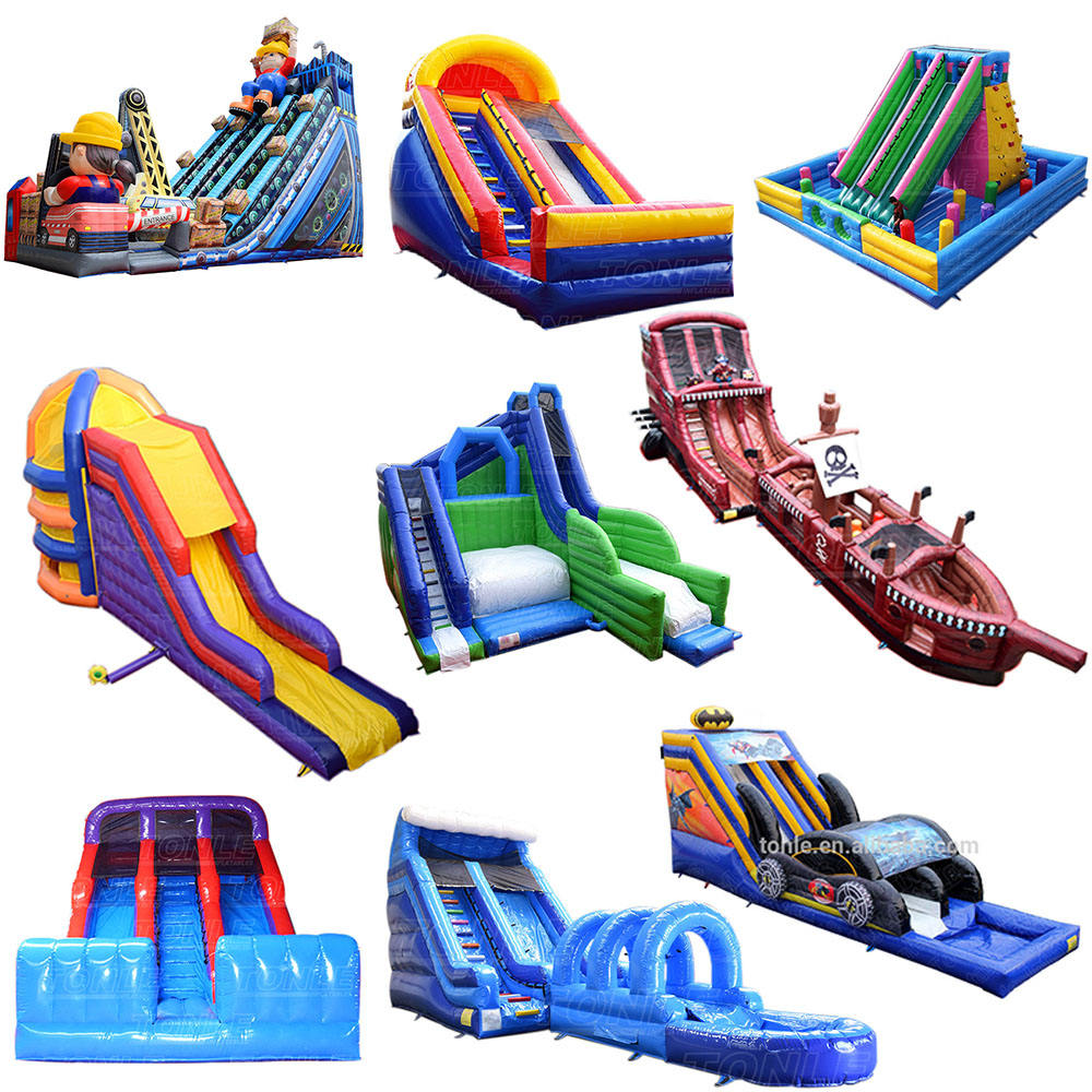 commercial PVC small giant big backyard children blow up wet dry adult and kid pool slip n slide inflatable water slide for sale