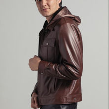 MAN LEATHER JACKET BROWN HIGH QUALITY