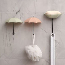 Novelty Household Umbrella Shape Hook Decorative Adhesive Wall Hanger