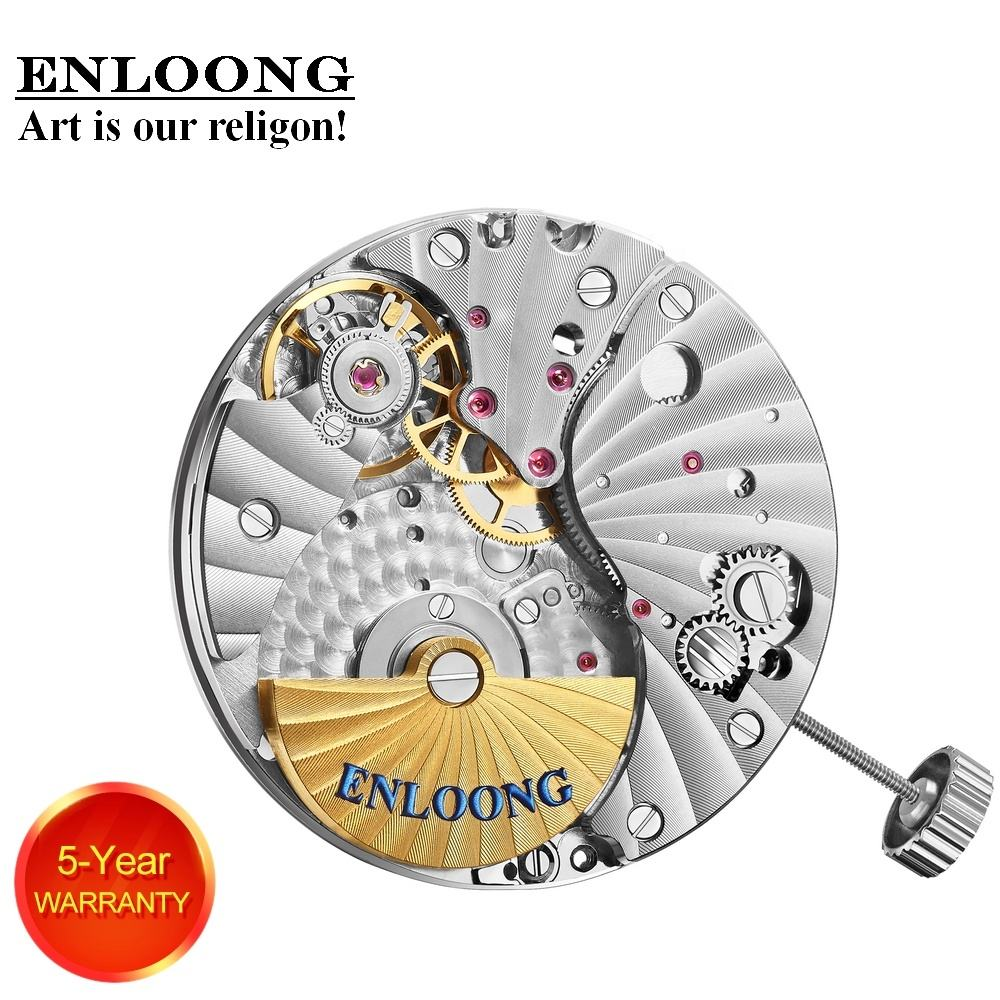 ENLOONG Customized Luxury Mechanical Movement Automatic with 30 Jewels Mini Rotor OEM Logo ELA05MN Watch Movement