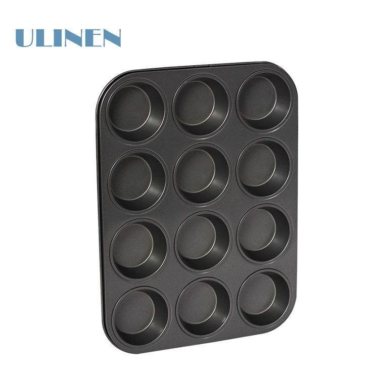 Commercial Non stick 12 molds teflon baking tray pan for cakes