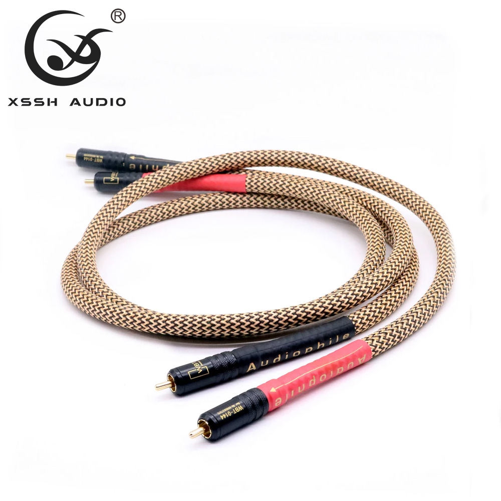 YIVO XSSH Hifi OFC Copper Audio 2RCA zu 2RCA Jack Cable Signal Lines AUX <span class=keywords><strong>CD</strong></span> Amplifier Connection Audio Cable