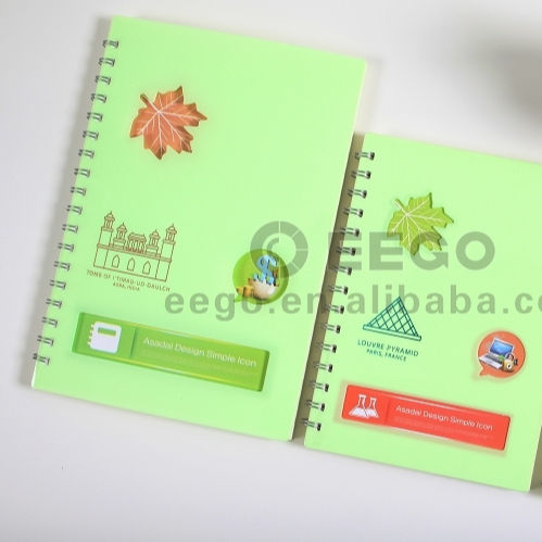 School supplies wholesale free samples a5 eco stationery set wire bound composition spiral notebook