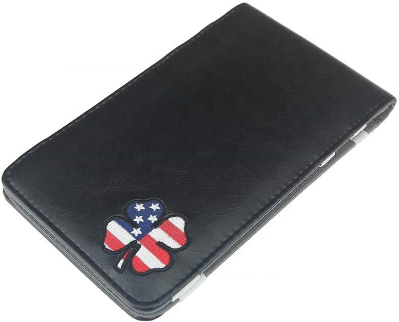 Factory Direct Price PU Leather Custom Golf Scorecard Holder with Pencil Card Hold Pocket Personalized US Amazon Hot Sales