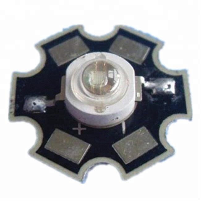 Blue color 440nm 450nm 460nm 470nm 480nm 490nm 505nm 560nm 1w 2w 3W High Power LED chip with aluminum star pcb