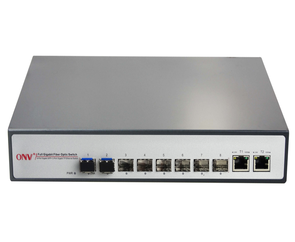 8-Port Gigabit Ethernet Switch De Rede De Fibra Óptica completa (ONV33008F)