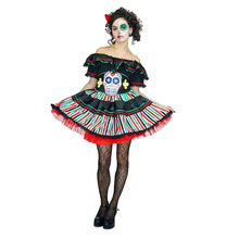 Hot Sale Scary Women's Halloween Party Cos Dress Carnival Role Play Senorite Costume