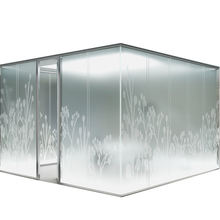 frosted glass room dividers partition wall with colored glass sliding door